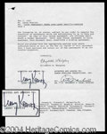 Autographs, Lenny Kravitz Rare Signed Contract