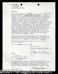 Autographs, Madonna Rare Signed SNL Document