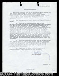 Autographs, Paul McCartney Signed Contract Agreement