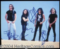 Autographs, Metallica Group Signed 8 x 10 Photograph