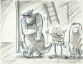 "Animation Art:Production Drawing, ""Monsters, Inc."" Storyboard Drawing Original Art (Pixar, 2001)...."