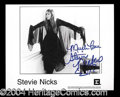 Autographs, Stevie Nicks Signed Promo Photo