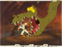 """Space Ace"" Animation Production Cel with Master Background Original Art (Cinematronics, 1983).... (Total: 2 I..."