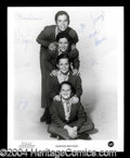 Autographs, The Osmond Brothers Signed 8 x 10 Photo