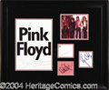 Autographs, Pink Floyd Group Signed Display Piece