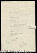 Autographs, Cole Porter Typed Letter Signed