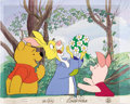 Animation Art:Production Cel, Winnie-the-Pooh Animation Production Cel Set-Up with BackgroundOriginal Art (Disney, undated). ... (Total: 2 Items)