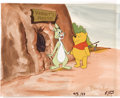 Animation Art:Production Cel, Winnie-the-Pooh Animation Production Cel with Background OriginalArt (Disney, undated). ...