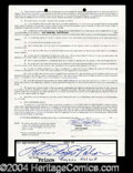 Autographs, Prince Rare Signed Document w/Full Name