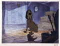 "Animation Art:Production Cel, ""101 Dalmatians"" Towser Production Cel with Presentation BackgroundOriginal Art (Walt Disney, 1961)...."