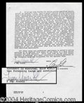 Autographs, Tupac Shakur Signed Contract for Juice