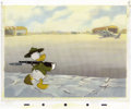 "Animation Art:Production Cel, ""Donald Gets Drafted"" Animation Production Cel with PresentationBackground Original Art (Disney, 1942). ..."