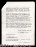 Autographs, Frank Sinatra Signed NBC Agreement