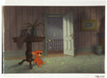 "Animation Art:Production Cel, ""Peter Pan"" Animation Production Cel with Presentation BackgroundOriginal Art (Walt Disney, 1953). ..."
