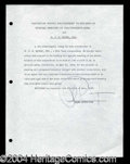 Autographs, Phil Spector Rare Signed Document