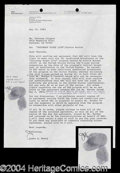 Autographs, Stevie Wonder Fingerprint Signed Document