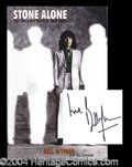 Autographs, Bill Wyman Signed Stone Alone Book