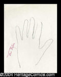 Autographs, Fred Astaire Hand Drawn Signed Sketch