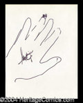 Autographs, Victor Borge Hand Drawn Signed Sketch