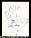 Autographs, Lloyd Bridges Hand Drawn Signed Sketch