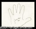 Autographs, Jackie Coogan Hand Drawn Signed Sketch