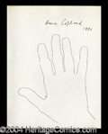 Autographs, Aaron Copland Hand Drawn Signed Sketch