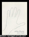 Autographs, Allen Ginsberg Hand Drawn Signed Sketch