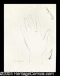 Autographs, Lillian Gish Hand Drawn Signed Sketch