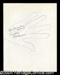 Autographs, Woody Herman Hand Drawn Signed Sketch
