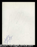 Autographs, Sammy Kaye Hand Drawn Signed Sketch