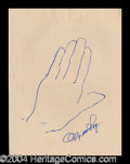 Autographs, Myrna Loy Hand Drawn Signed Sketch