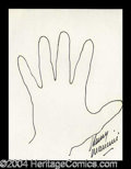 Autographs, Henry Mancini Hand Drawn Signed Sketch