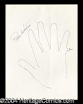 Autographs, Roddy McDowell Hand Drawn Signed Sketch