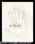Autographs, Ray Millard Hand Drawn Signed Sketch