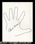 Autographs, Chuck Norris Hand Drawn Signed Sketch