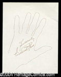 Autographs, Vincent Price Hand Drawn Signed Sketch