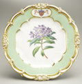 Political:3D & Other Display (pre-1896), James K. Polk: Gorgeous Dessert Plate From His White House ChinaService....