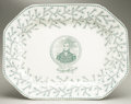 Political:3D & Other Display (pre-1896), William Henry Harrison: Magnificent Large Ironstone Platter, One ofthe Most Sought After Pieces of Political China. ...