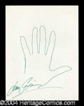 Autographs, Jean Simmons Hand Drawn Signed Sketch