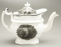 Political:3D & Other Display (pre-1896), Andrew Jackson: Superb Teapot with Three Portraits....