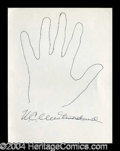 Autographs, W.C. Westmoreland Hand Drawn Signed Sketch