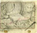 "Animation Art:Production Drawing, Art Babbitt (attributed) - ""Broken Toys"" Layout Drawing OriginalArt (Disney, 1935)...."