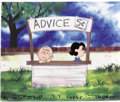 "Animation Art:Production Cel, ""The Charlie Brown and Snoopy Show"" Charlie Brown and Lucy Van PeltAnimation Production Cel Original Art (Lee Mendels..."