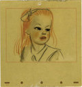 "Animation Art:Production Drawing, ""Alice in Wonderland"" Alice Concept Drawing Original Art (Disney,1951). ..."