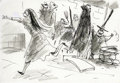"""Animation Art:Production Drawing, """"Nightmare Before Christmas"""" Storyboard Drawing Original Art(Touchstone Pictures, 1993)...."""
