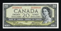 "Canadian Currency: , BC-33b $20 1954 ""Devil's Face Portrait."". ..."