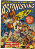 Golden Age (1938-1955):Science Fiction, Astonishing #5 (Atlas, 1951) Condition: VG/FN....