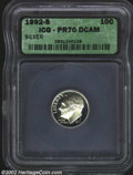 Proof Roosevelt Dimes: , 1992-S 10C Silver PR 70 Deep Cameo ICG. ...