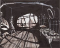 "Animation Art:Production Drawing, ""Nightmare Before Christmas"" Layout Drawing Original Art(Touchstone Pictures, 1993)...."