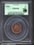 Proof Indian Cents: , 1885 1C PR64 Red and Brown PCGS. Eagle Eye Photo Seal. ...